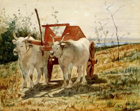 Giovanni Fattori - El rojo carro del buey
