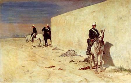 Giovanni Fattori - Wache zu Pferde