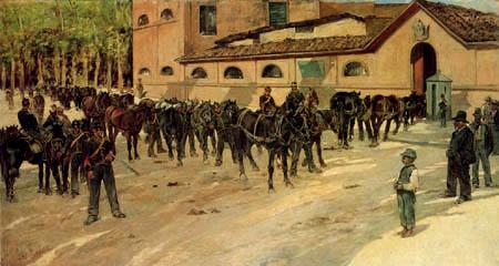 Giovanni Fattori - Zurück in die Kaserne