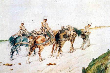 Giovanni Fattori - Soldados a caballo