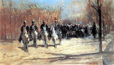 Giovanni Fattori - Polizeitruppe der Kavallerie