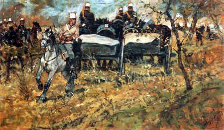 Giovanni Fattori - Manöver der Artillerie