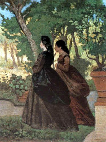Giovanni Fattori - Frauen im Garten