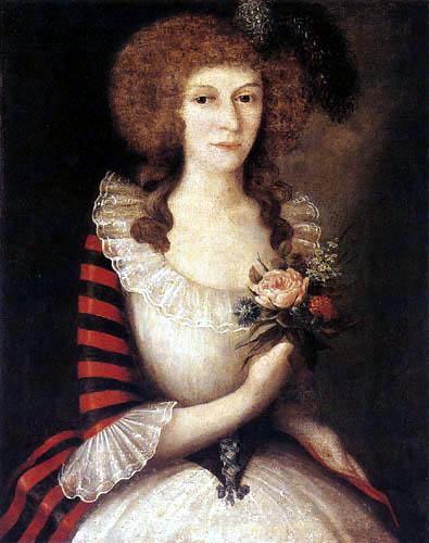 Józef Faworski - Portrait of Wiktoria Madalińska