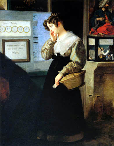 Peter Fendi - Mädchen vor der Lotterie
