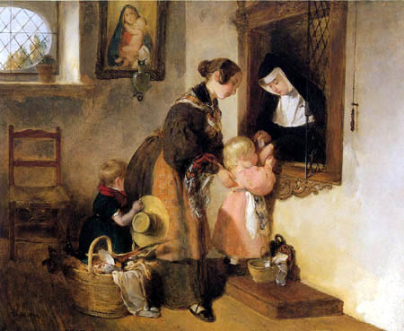 Peter Fendi - Visit at nun