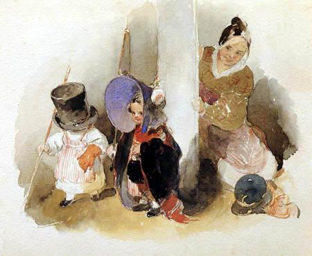 Peter Fendi - Playing children