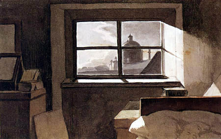 Peter Fendi - View of a church in moonshine