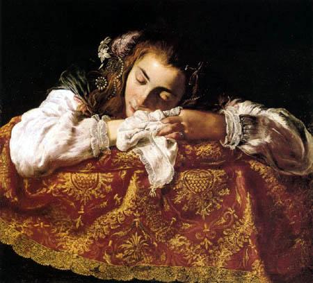 Domenico Fetti - Sleeping girl