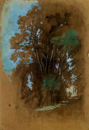 Anselm Feuerbach - Allee im Park Villa dÉste Tivoli