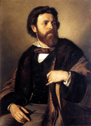 Anselm Feuerbach - Portrait of Julius Allgeyer