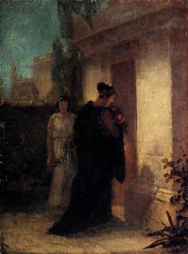 Anselm Feuerbach - Une femme dans le deuil