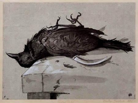 Anselm Feuerbach - Ein toter Rabe