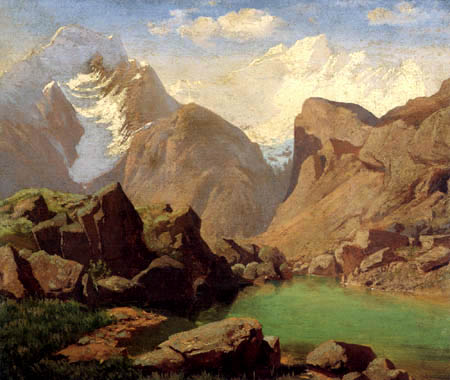 Anselm Feuerbach - In the Alps of Trentino