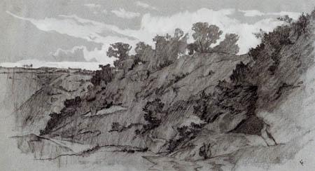 Anselm Feuerbach - Paysage de la Campanie