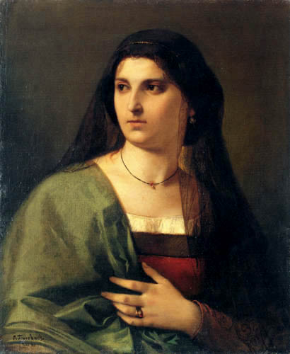 Anselm Feuerbach - Portrait of a young Roman