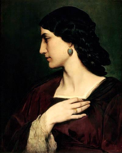 Anselm Feuerbach - Nanna in Rot