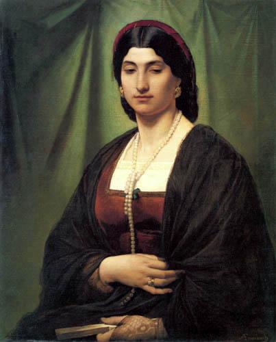 Anselm Feuerbach - Nanna mit Perlenkette