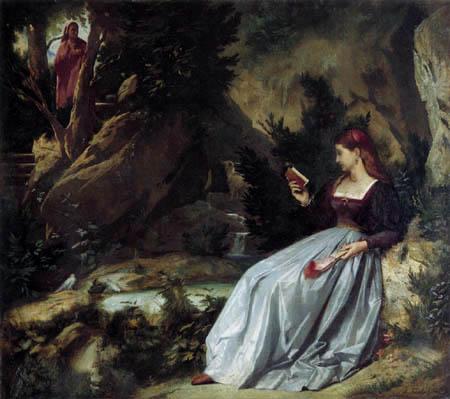 Anselm Feuerbach - Laura im Park von Vaucluse