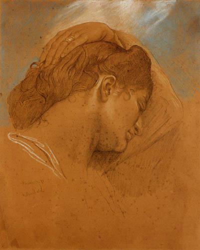 Anselm Feuerbach - Kopf der Medea