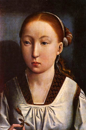 Juan de Flandes - Portrait of a young girl