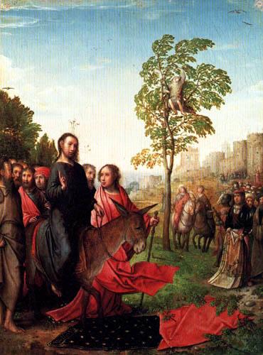 Juan de Flandes - Der Einzug Christus in Jerusalem