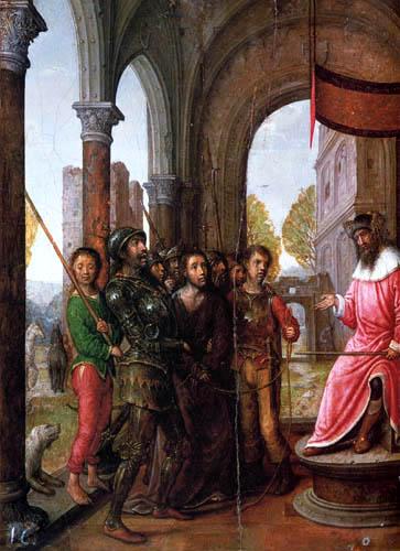 Juan de Flandes - Jesus before Pilate
