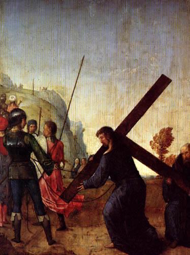 Juan de Flandes - Der Weg zum Kalvarienberg