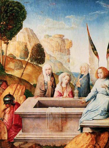 Juan de Flandes - Maria an der Grabstelle