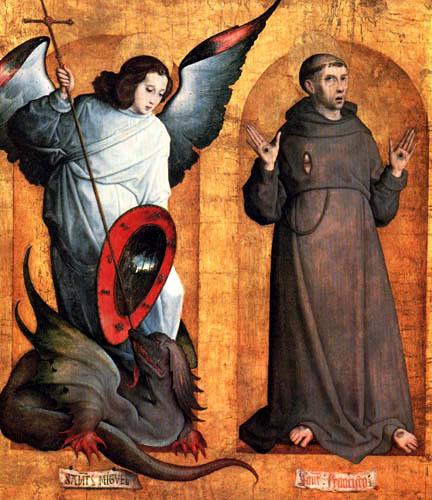 Juan de Flandes - St. Michael and St. Francis