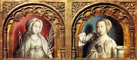 Juan de Flandes - Hl. Apolonia und Maria Magdalena
