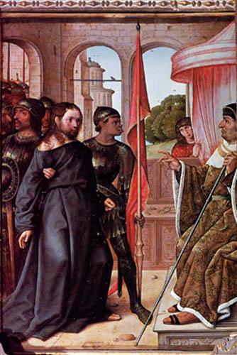 Juan de Flandes - Cristus vor Pilatus