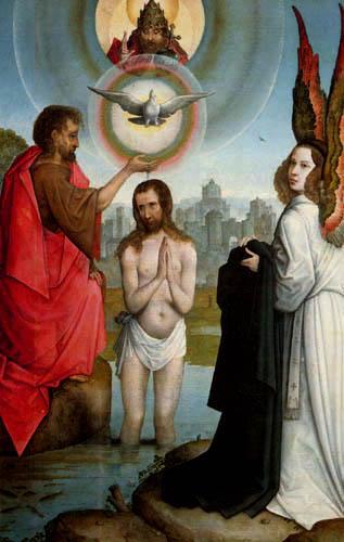 Juan de Flandes - The Baptism of Christ