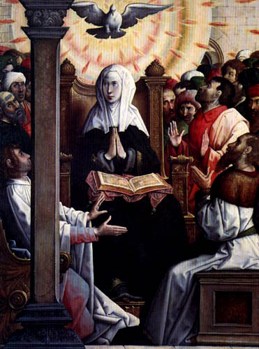 Juan de Flandes - The Pentecost