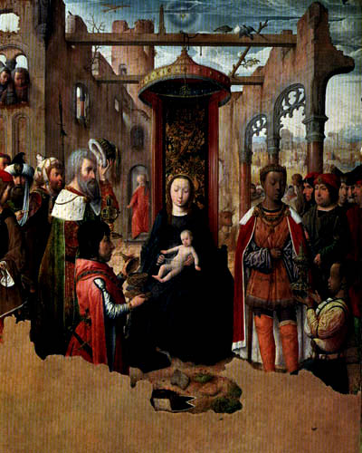 Juan de Flandes - Die Anbetung der Könige