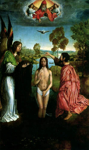 Juan de Flandes - The Baptism of Christ