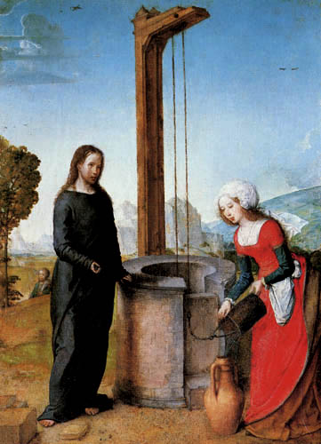 Juan de Flandes - Jesus und die Samariterin