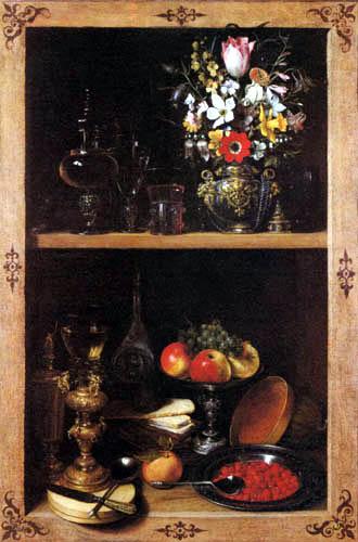 Georg Flegel - Shelf with flowers and fruit