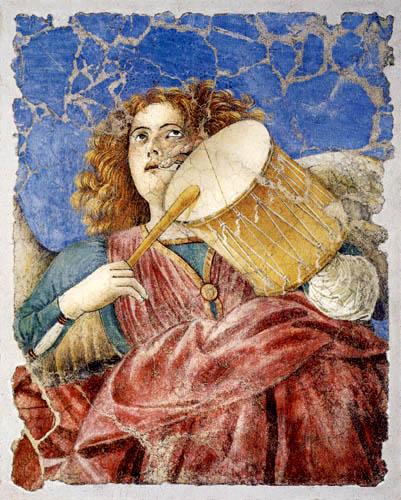 Melozzo da Forli - Tambour spielender Engel