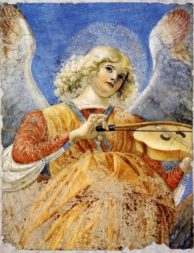 Melozzo da Forli - Viola spielender Engel