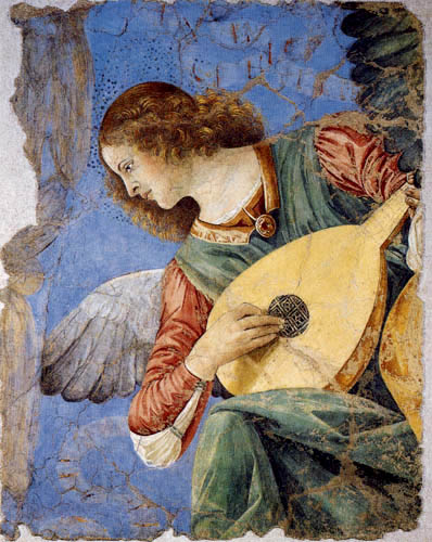 Melozzo da Forli - An Angel with a Lute