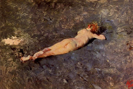 Mariano Fortuny - Nude on the beach