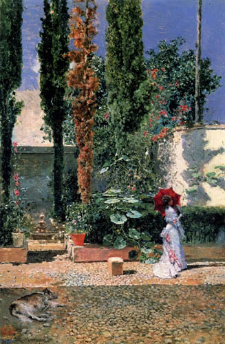 Mariano Fortuny - Lady in the garden