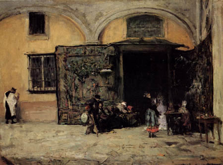 Mariano Fortuny - Entrance to the church of San Gines