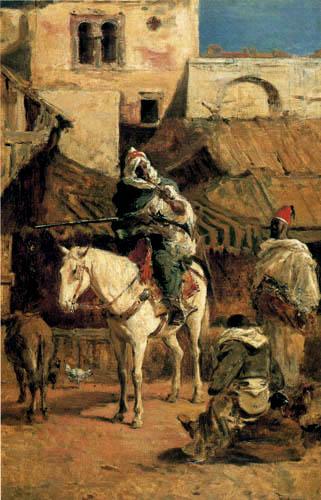 Mariano Fortuny - Arabian horseman in Tanger