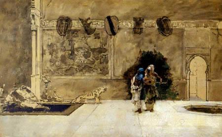 Mariano Fortuny - Arabian musicians