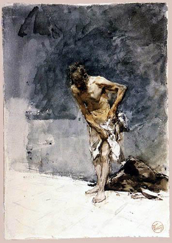 Mariano Fortuny - Seminude man