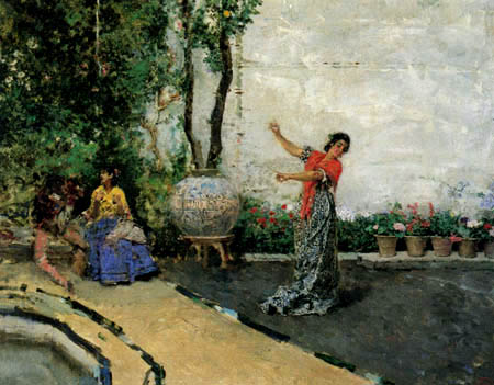 Mariano Fortuny - Bohemia dancing in the garden