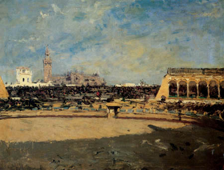 Mariano Fortuny - The bullfighting arena of Sevilla