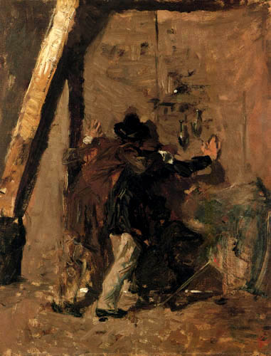 Mariano Fortuny - Bandits on the door